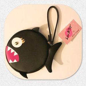 Luv Betsey Piranha Fish Wristlet/Wallet Clutch